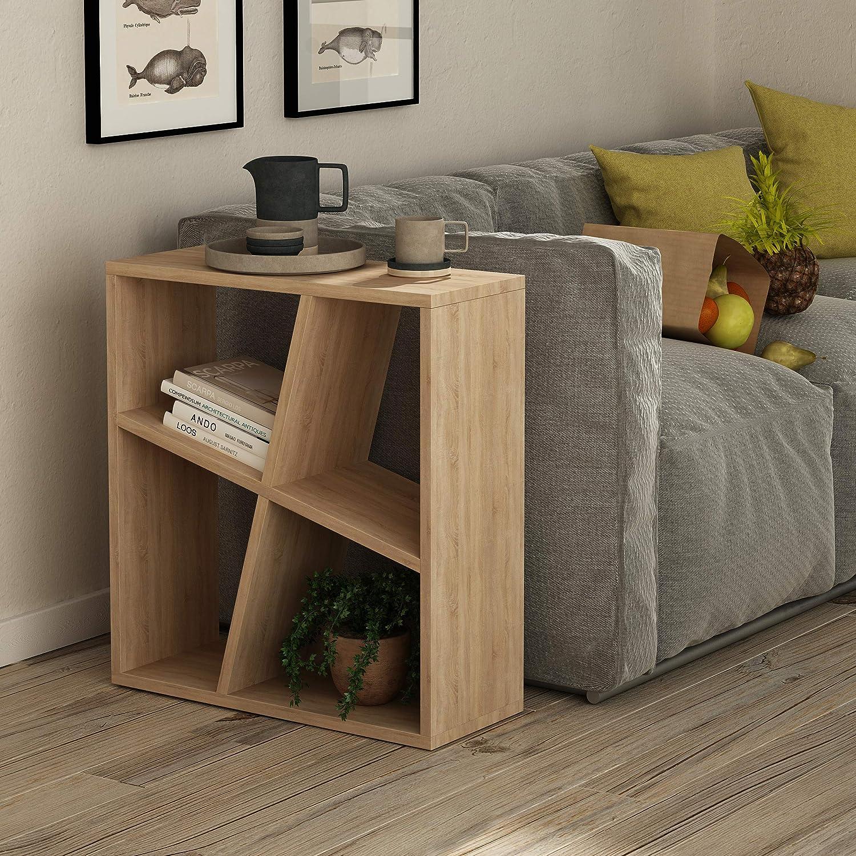 Ada Home Décor Sada Side Table, 23.62'' x 21.16'' x 8.66'', Oak &