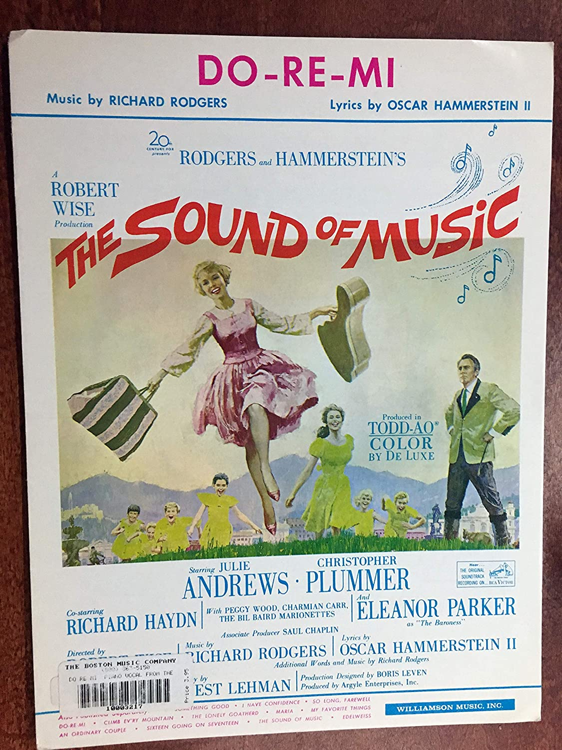 DO-RE-MI (Rodgers and Hammerstein SHEET MUSIC) 1965