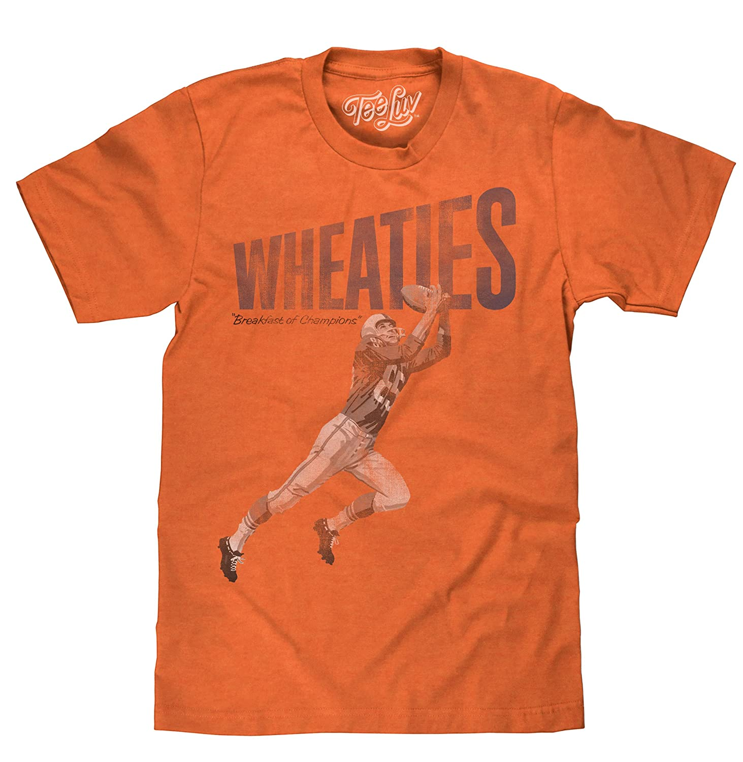 58aa66220 YOUR NEW FAVORITE WHEATIES T-SHIRT: Enjoy the nostalgia of the classic  Wheaties football player logo and