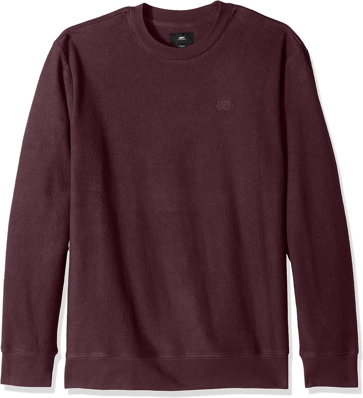 Obey Mens Prospect Crew Neck Fleece Ii Sweatshirt