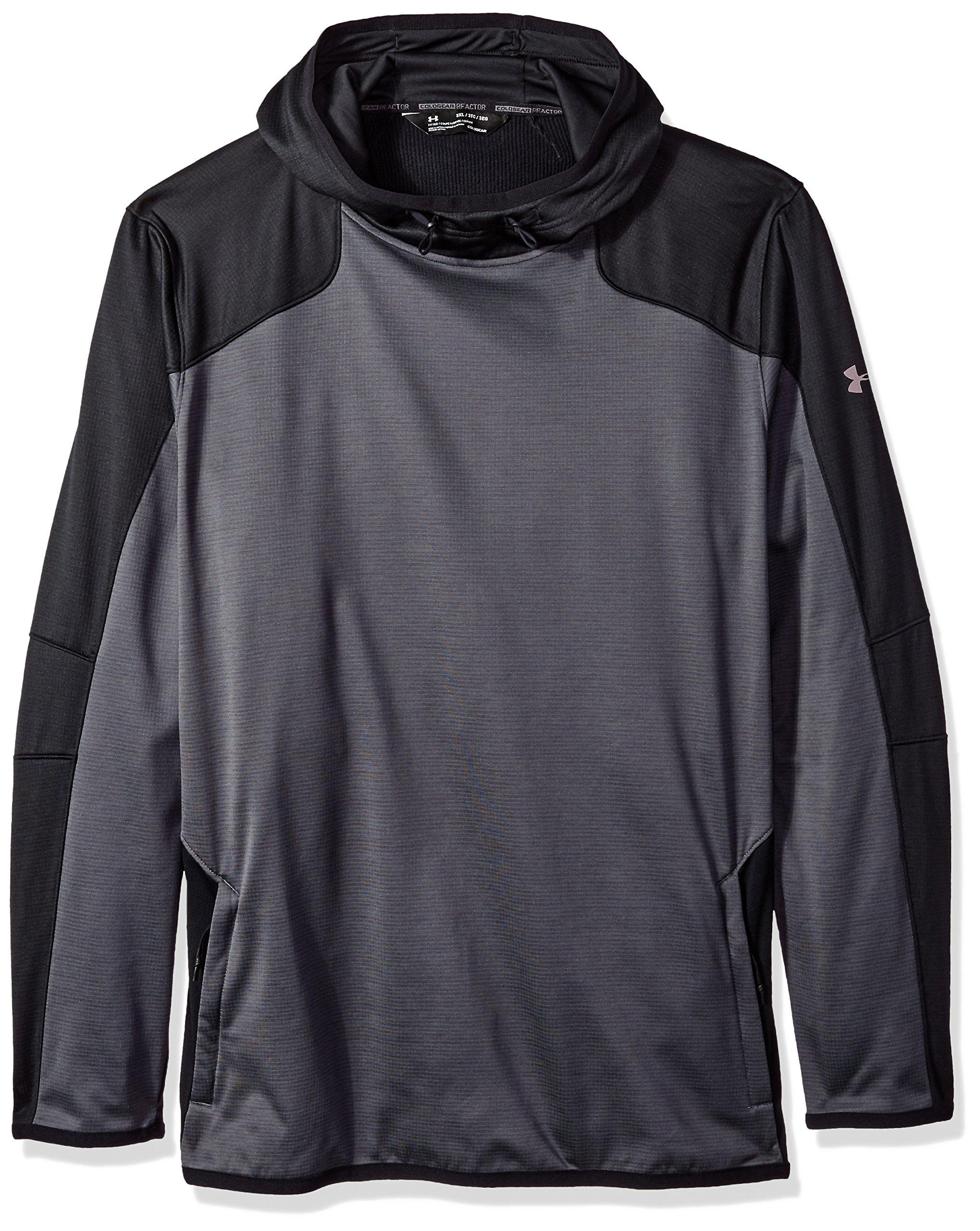 Under Armour Men's Cold Gear Reactor Fleece Hoodie, Rhino Gray (076)/Black, Small