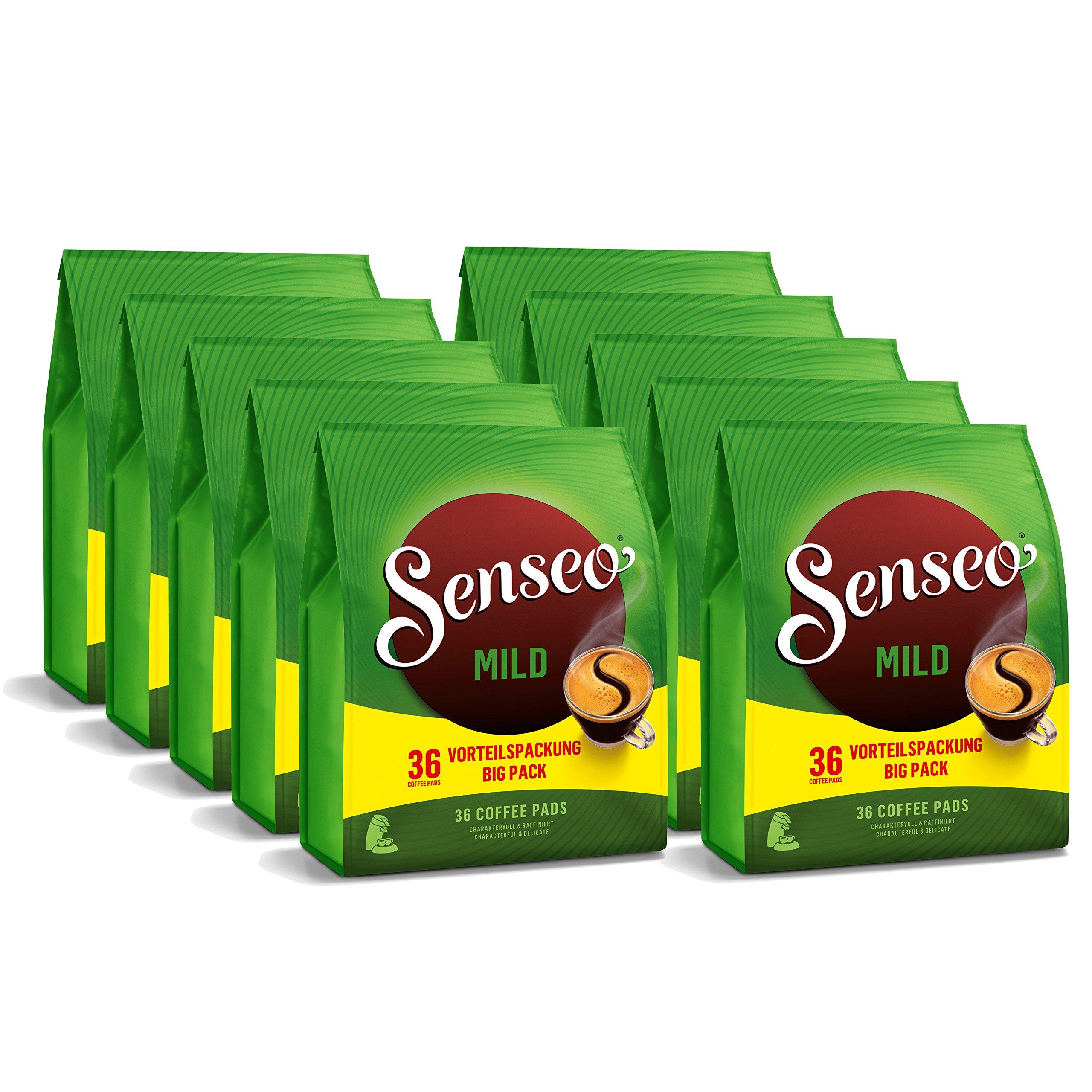 Senseo Mild Roast Coffee, 360-count Pods (10 Bags of 36 Pods)