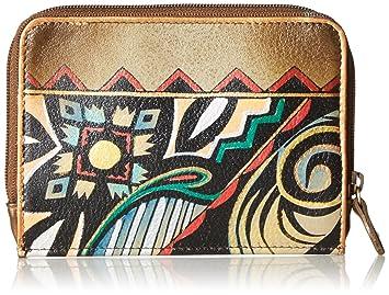 AnUSCHKA pintado a mano – Funda de piel tipo cartera para mujer, regalo de cumpleaños