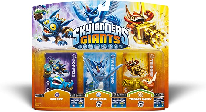 Activision Skylanders Giants Triple Pack #1: Pop Fizz, Whirlwind, Trigger Happy [Importación Inglesa]: Amazon.es: Videojuegos