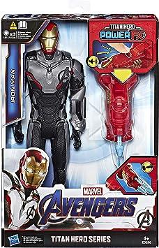 Hasbro- Iron Man de titanio con Quantum Power Pack, aprox. Figura ...
