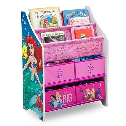Amazon Com Disney Princess Book Toy Organizer Home Kitchen