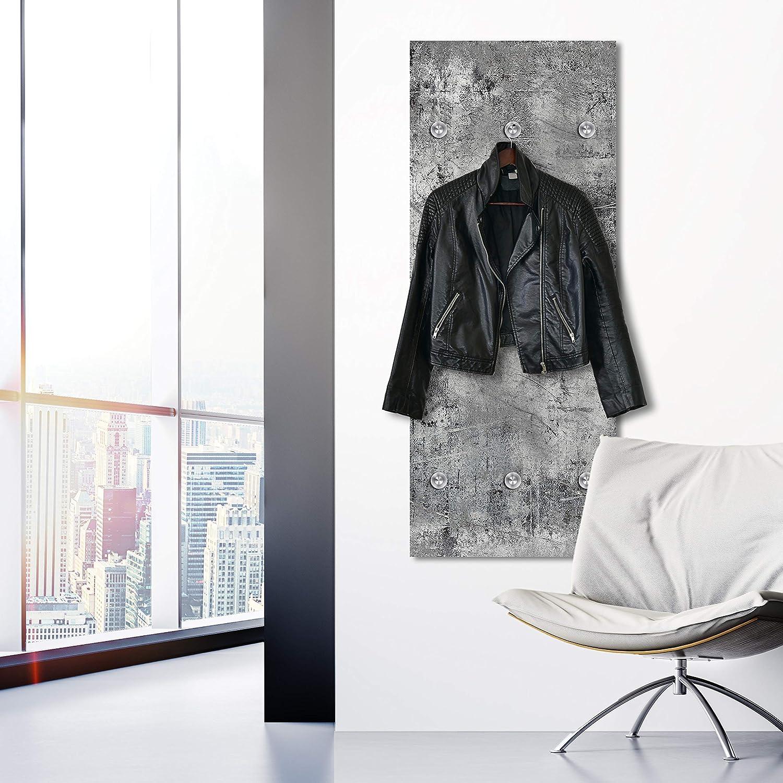 Urban Look Cuadros Lifestyle Designer-Garderobe Garderobenst/änder Wandgarderobe Gr/ö/ße:50x120 cm Kleiderst/änder Kleiderablage Garderobenhaken Flurgarderobe Garderobenpaneel