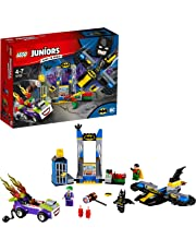 LEGO 10753 Juniors The Joker Toy Batcave Attack Playset, Batman Joker and Robin Minifigures, Superhero Toy for Kids 4-7
