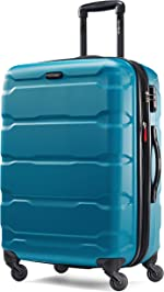Samsonite Omni PC Hardside Expandable Luggage with Spinner Wheels, Caribbean Blue,
