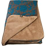 Yamalaya Khopra Camel Wool Square Sleeping Bag with Breathable Satin Shell, Emerald Green
