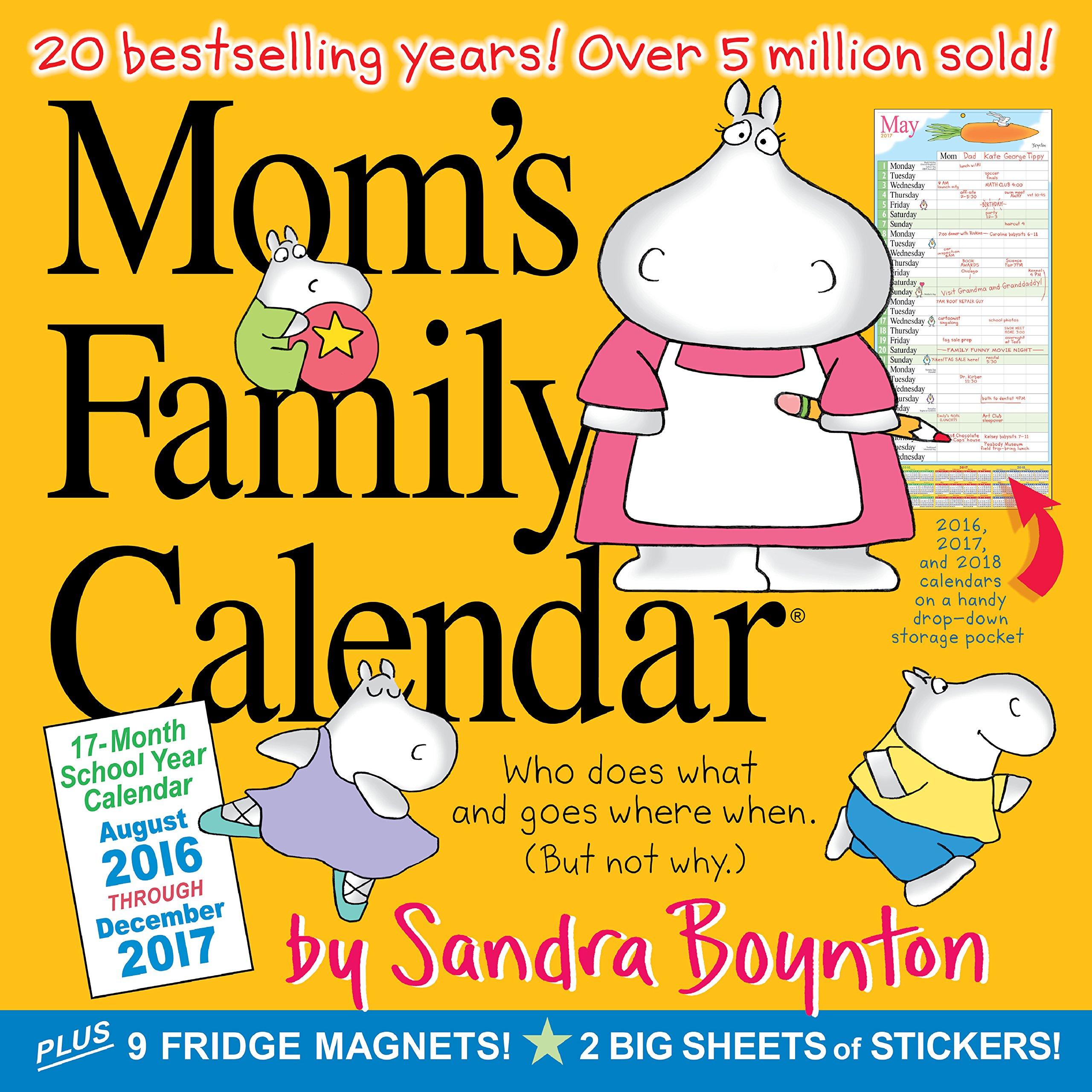 mom s family wall calendar 2017 sandra boynton