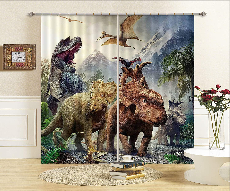 3D 恐竜の世界 283 ブロックアウトフォトカーテンプリントカーテンドレープファブリックウィンドウ| 3Dラージ写真カーテン, MXY WALLPAPER Maze (360cmx270cm(WxH)【141''x 106''】) B07MGQ81JM  360cmx270cm(WxH)【141''x 106''】