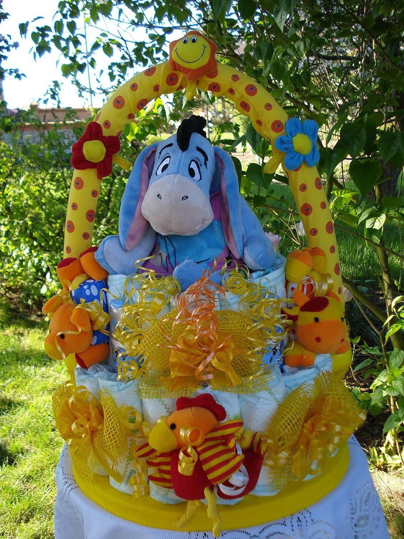 Windeltorte Disney-I-aah oder Winnie Pooh mit MobileGeburt -Taufe -Hochzeit