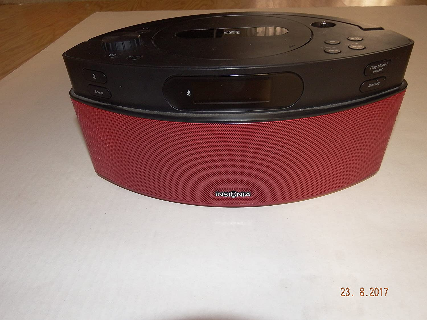 Insignia NS-BBTCD01 CD Boombox with AM/FM Radio and Bluetooth