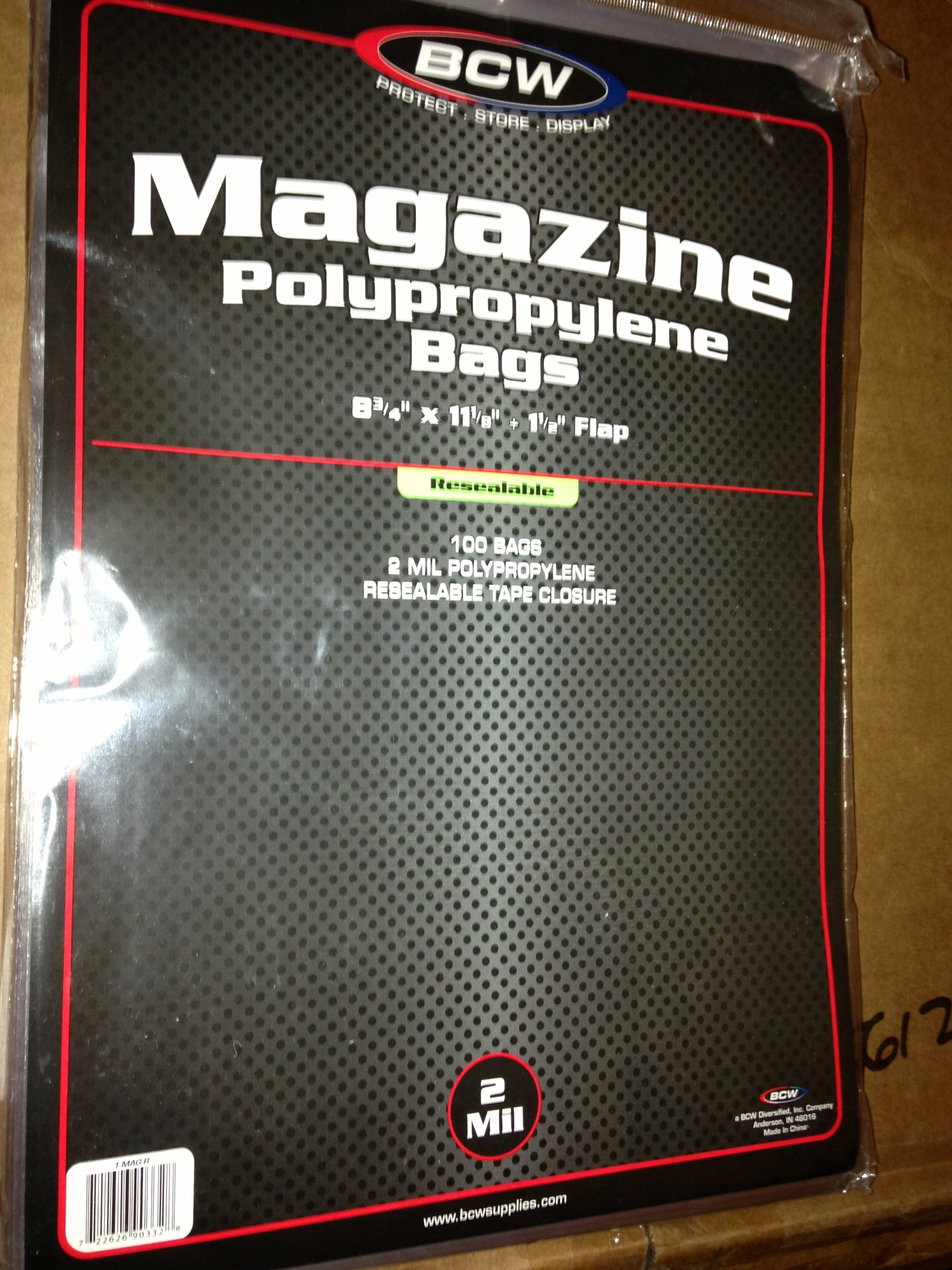 Resealable Magazine Bag (8 3/4'' X 11 1/8'') 100 count by BCW (Image #1)