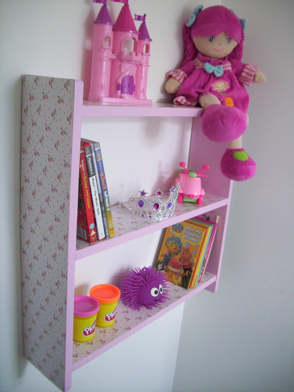 Woodiquechic 60 cm Chicas estantes, para niños estantes, Color Rosa ...