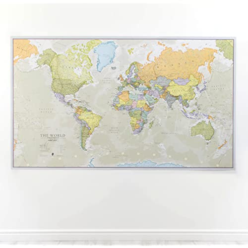 World maps amazon maps international huge world map classic world map poster laminated 197 x 1165 publicscrutiny Images