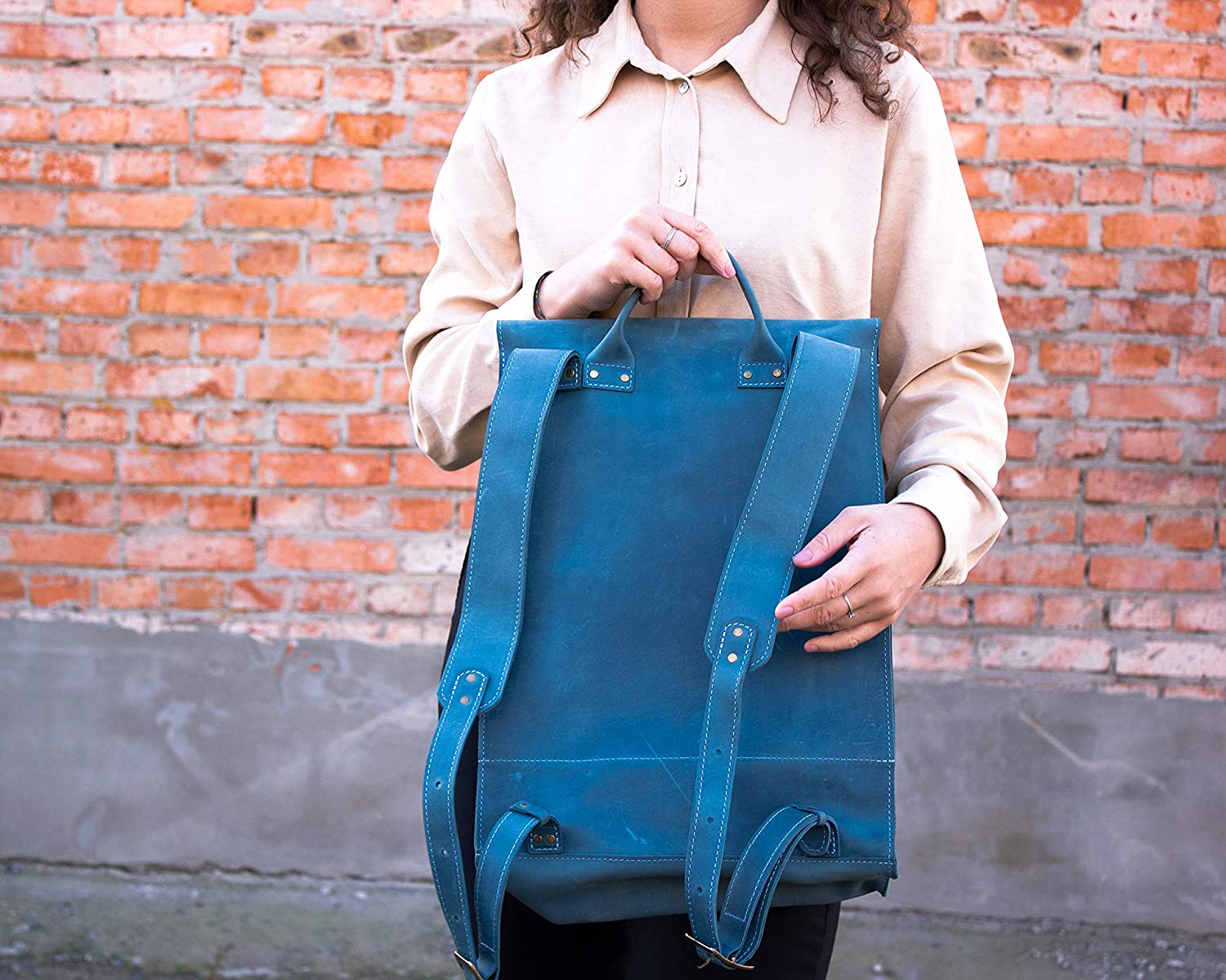 Womens Leather Backpack Vintage Leather Backpack Leather Bags Hand Made Leather Backpack Genuine Leather Rucksack