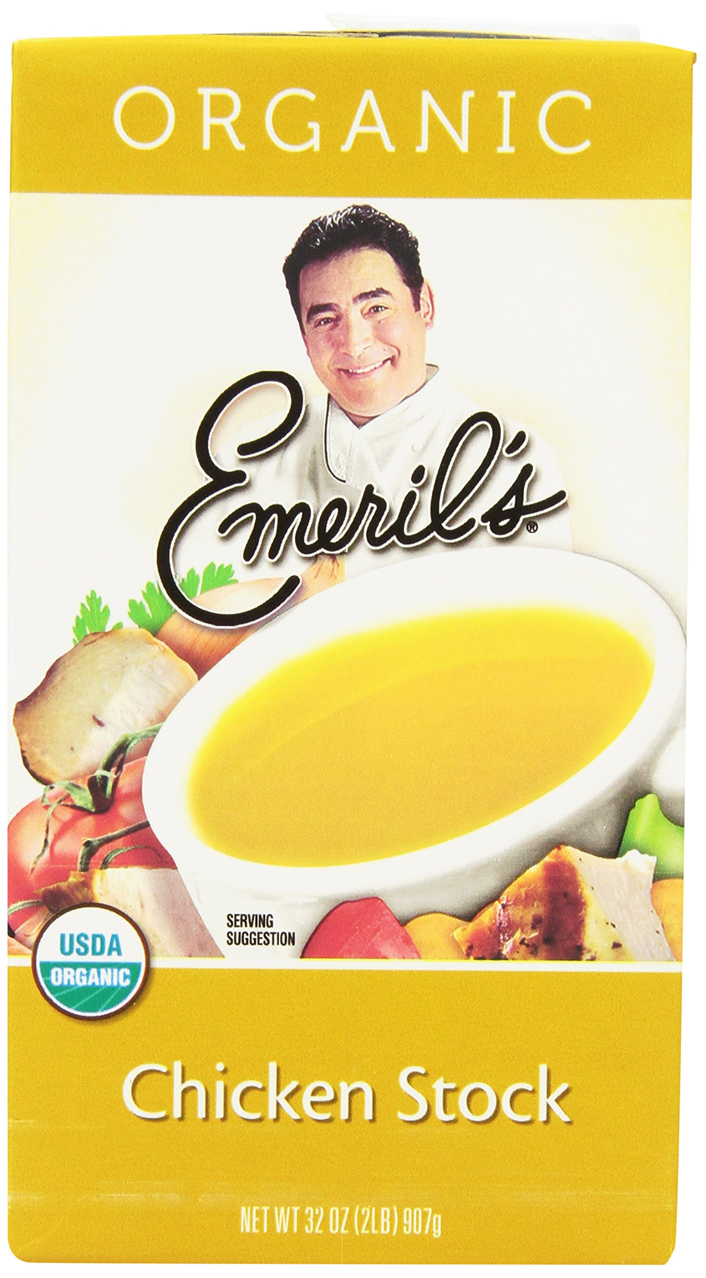 Emeril's Flavored Stock, Organic Chicken, 32 Ounce (Pack of 6)