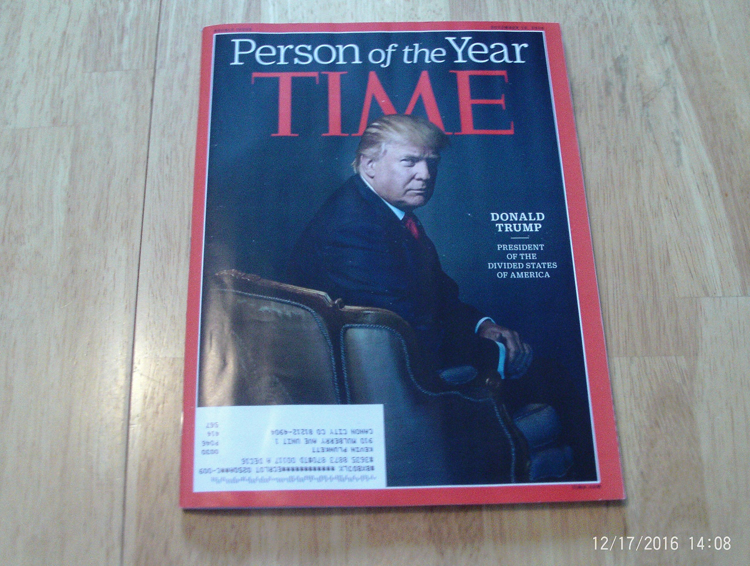 Time Magazine Person Of The Year President Donald Trump Nancy Gibbs Amazon Com Books