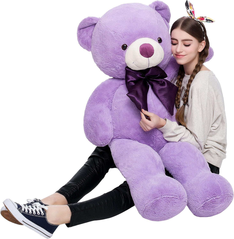 Toys Studio Misscindy Giant Teddy Bear Plush Stuffed Animals for Girlfriend or Kids 47 inch, (Purple)