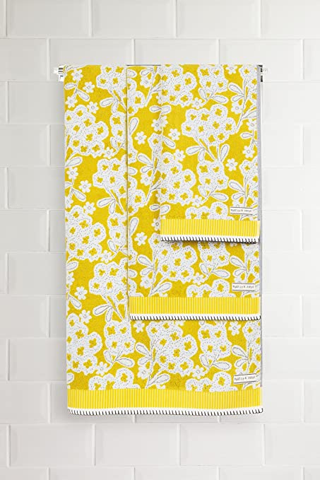 Next Toalla Amarilla De Flores Amarillo Toalla de baño grande