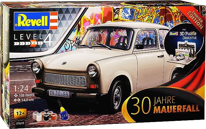 Trabant 601 Limousine Blau 1964-1990 mit Farben Leim Pinsel 07777 Bausatz Kit 1//
