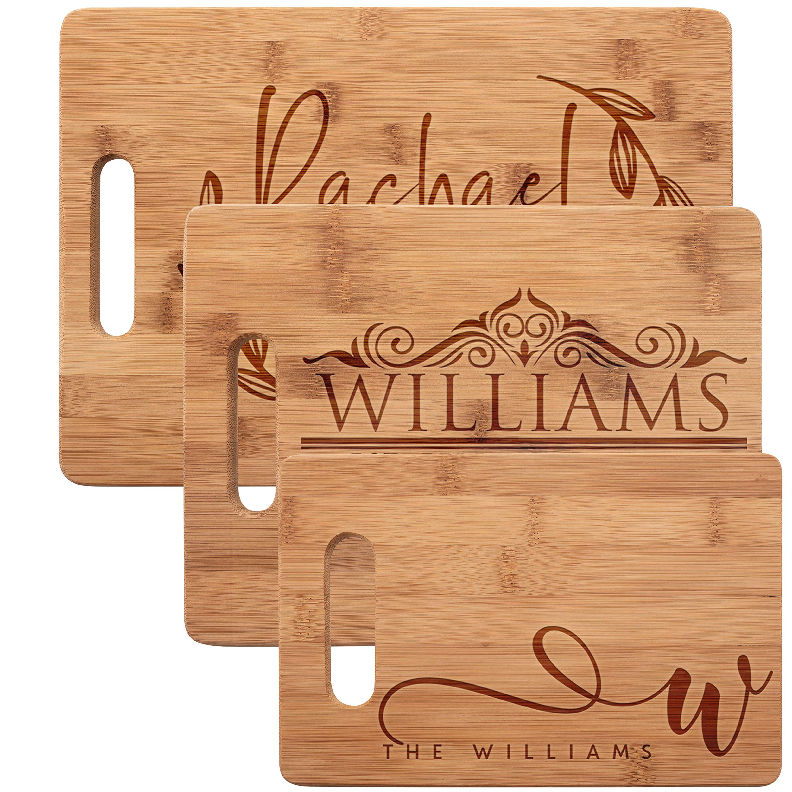 Personalized Cutting Board, Bamboo Cutting Board - Personalized Gifts - Wedding Gifts for the Couple, Engagement Gifts, Gift for Parents, Real Estate Agent Closing Gifts by Be Burgundy
