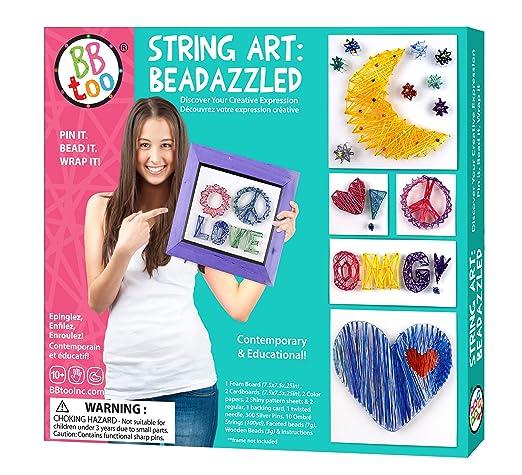 amazon com string art beadazzled arts crafts sewing