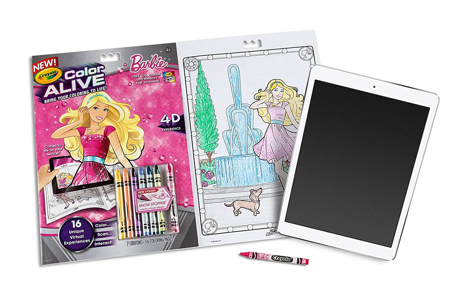 Small Frozen Coloring Pages : Amazon crayola color alive action coloring pages barbie