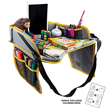 Amazon Com Kids Travel Tray Foldable Travel In Car Plane
