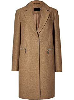 ex M/&S Womens Ladies Winter Coat Funnel Neck Single Breasted Jacket