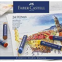 Giz Pastel Oleoso, Faber-Castell, FC127024, 24 Cores