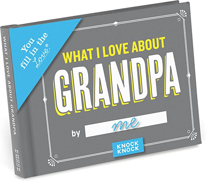 Knock Knock What I Love about Grandpa Fill-in-the-Blank Gift Journal