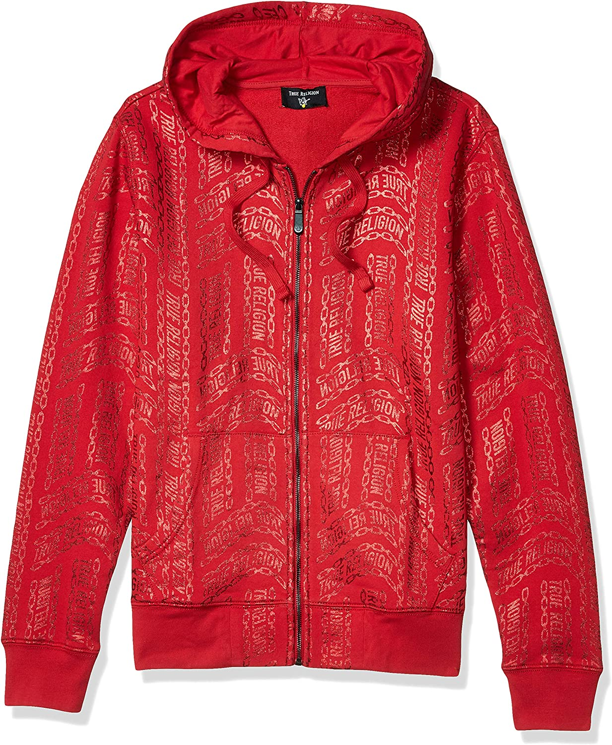 True Religion Men's All Over Graphic Zip-Up Hoodie