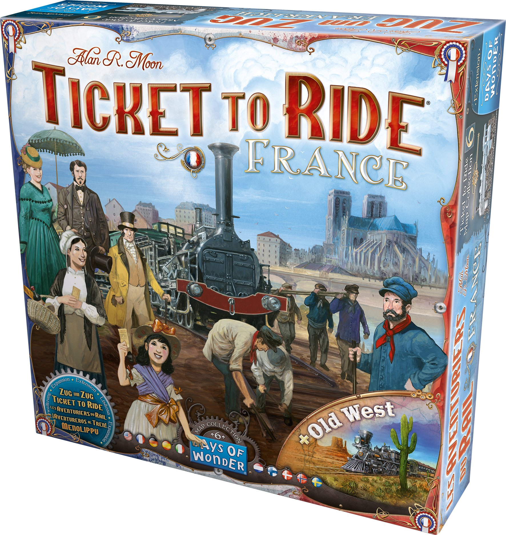 Ticket to Ride: France and Old West Map Collection Six by Days of Wonder (Image #2)