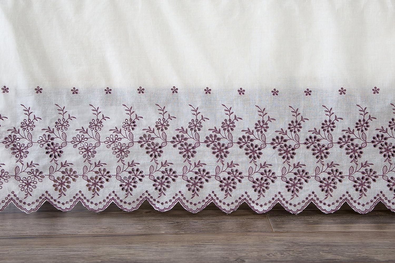 North End D/écor Floral Border White Lace Flat Front Bed Skirt North End Decor NE701 King