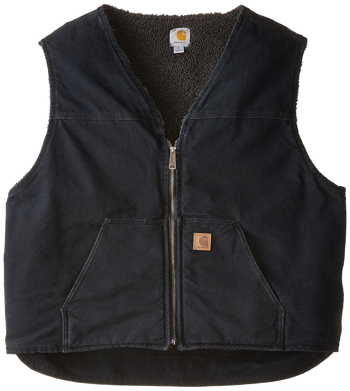 Carhartt メンズ ビッグ & トール シェルパ生地 サンドストン ラギッドベスト V26 B0012M1ZUY XL|ブラック ブラック XL