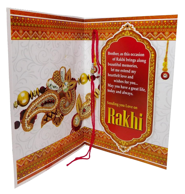 Bhaiya bhabhi rakhi rakhi gift combo with rakhi greeting cards bhaiya bhabhi rakhi rakhi gift combo with rakhi greeting cards amazon toys games kristyandbryce Choice Image