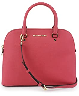 0fc4a2ff1c9c Michael Michael Kors Cindy Medium Dome Satchel (Coral)  Handbags ...