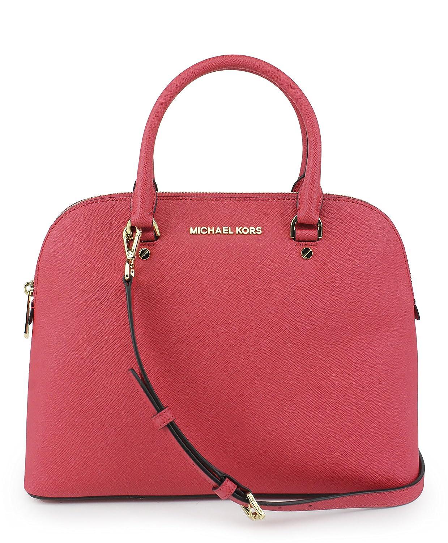 0bab27dfe86e MICHAEL Michael Kors Cindy Large Dome Satchel WATERMELON: Handbags:  Amazon.com