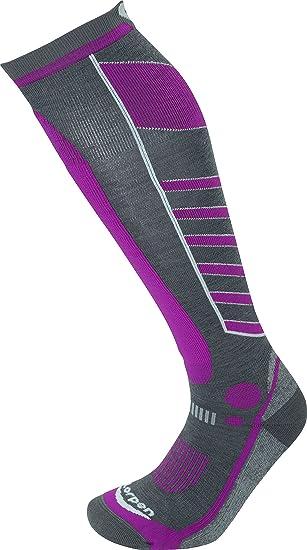 Lorpen T3 luz de esquí de la mujer calcetines, mujer, gris