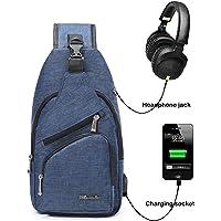 BSTcentelha zaino a tracolla, per uomo o donna, leggero, per escursionismo e viaggi, con porta di ricarica USB
