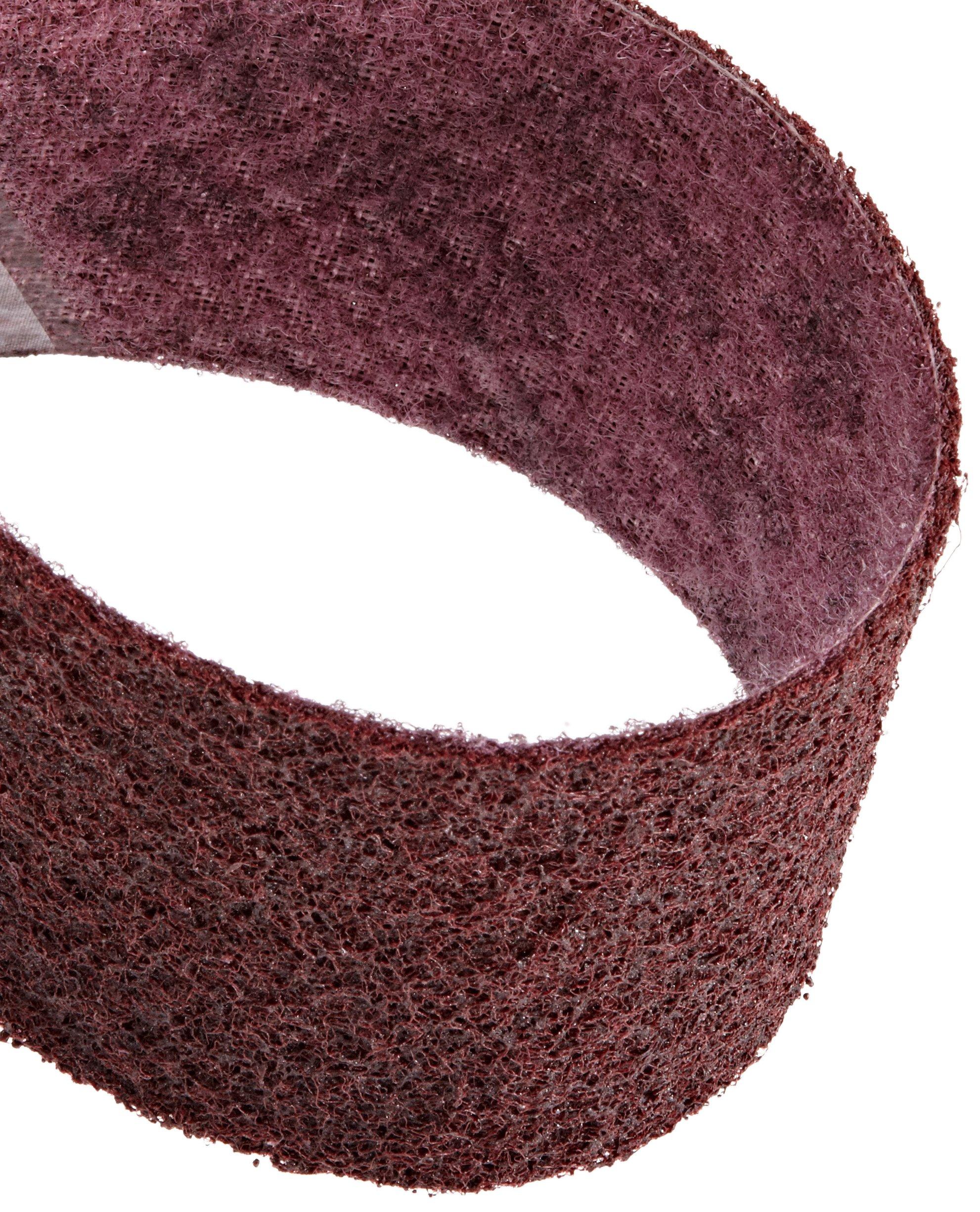 Scotch-Brite(TM) Surface Conditioning Belt, 3-1/2 Width x 15-1/2 Length, Medium, Maroon (Pack of 10)