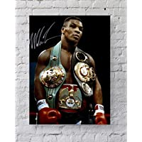 MeiMeiZ Mike Tyson with Belts Poster Standard Size | 18-Inches by 24-Inches |Mike Tyson Posters Wall Poster Print