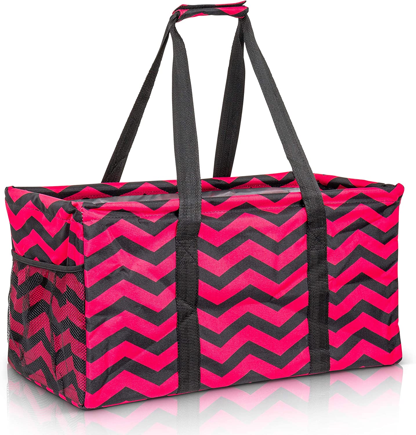Extra Large Utility Tote Bag - Oversized Collapsible Pool Beach Canvas Basket