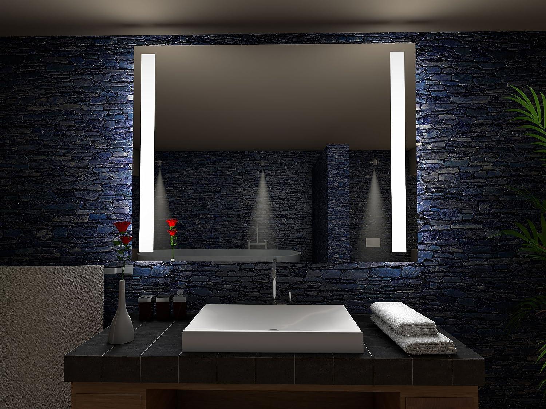 Paris Badspiegel mit LED Beleuchtung - B: 80 cm x H: 60 cm: Amazon ...