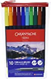 Caran D'Ache Fibralo Water Soluble Brush Pens 10 Pack