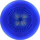 GoSports LED Light Up Flying Ultimate Disc, 175 grams, with 4 LEDs (Blue, Red, White or Green)