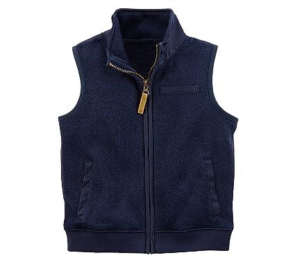 0cd7bf4e Amazon.com: Carter's Baby Boys' Zip Up Sweater Vest Blue 12 Months ...